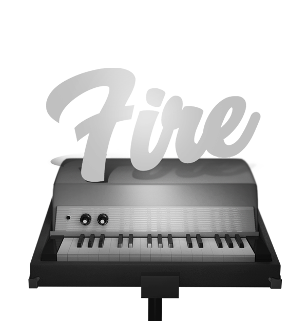 Fire  Spectral Modeled Rhodes Piano Bass | Sampleson